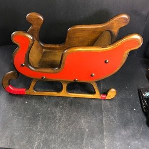 Holiday - Vintage Wooden Santa Sleigh